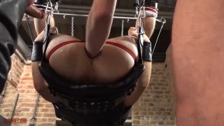 Ashley Ryder Gets Fist Fucked By Two Leather Tops